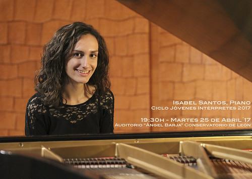 ISABEL SANTOS, PIANO - CICLO JÓVENES INTÉRPRETES DEL CONSERVATORIO DE LEÓN 2017