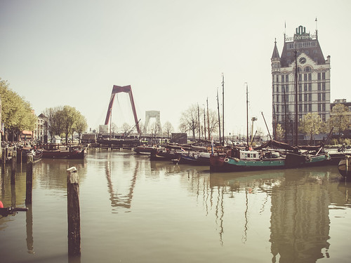 Old harbour in Rotterdam