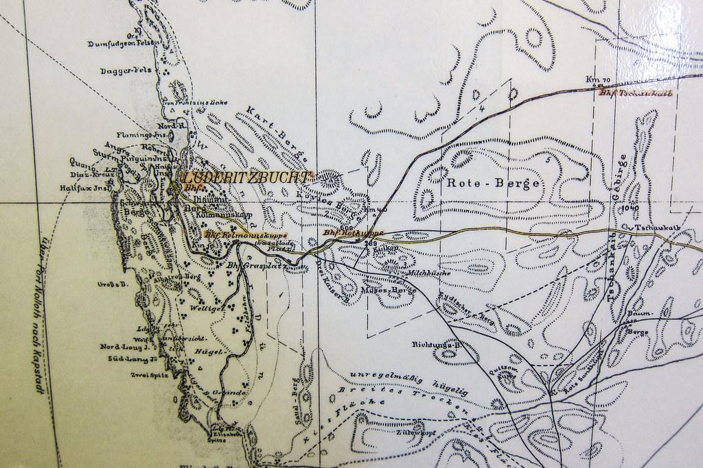 Old map of Lderitz Namibia Windhoek railway museum Flickr