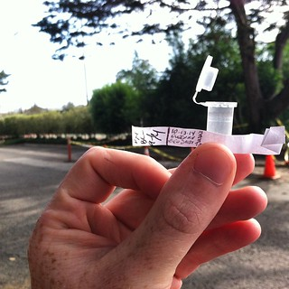 Nabbed yah! #Geocache adventures on the #DalyCity/#SF border. Adorable container! TFTC! #urbantreasure | by queenkv