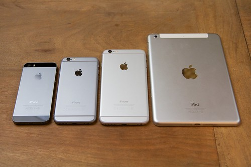 mini iphone 6 iphone 6 plus vs iphone 6 vs iphone 5s vs mini 2 flickr 12633
