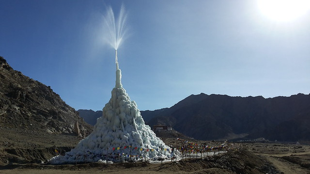 photo of ice stupa
