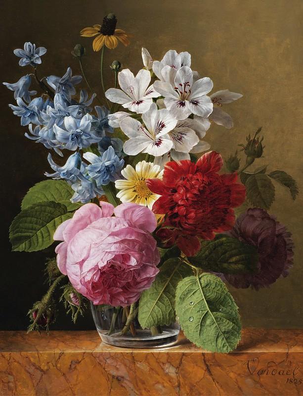Jan Frans van Dael - Bouquet de fleurs dans un verre