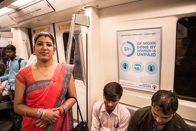 International Women's Day on the Delhi Metro