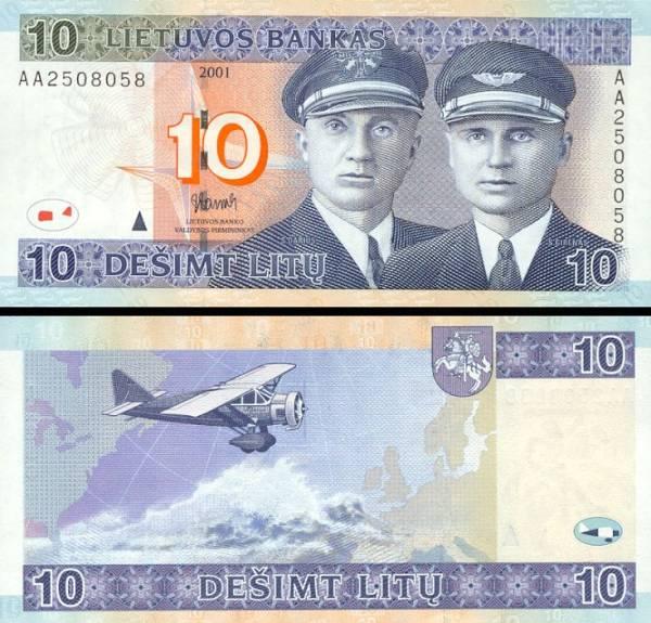 10 Litu Litva 2001, P65