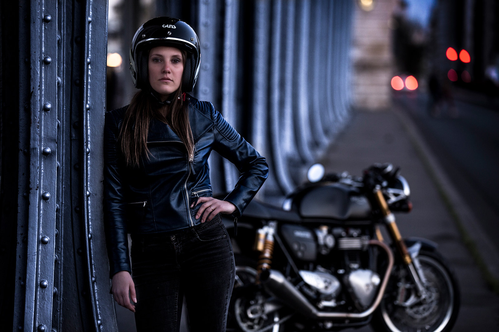 Essai moto Triumph Thruxton R par Lily