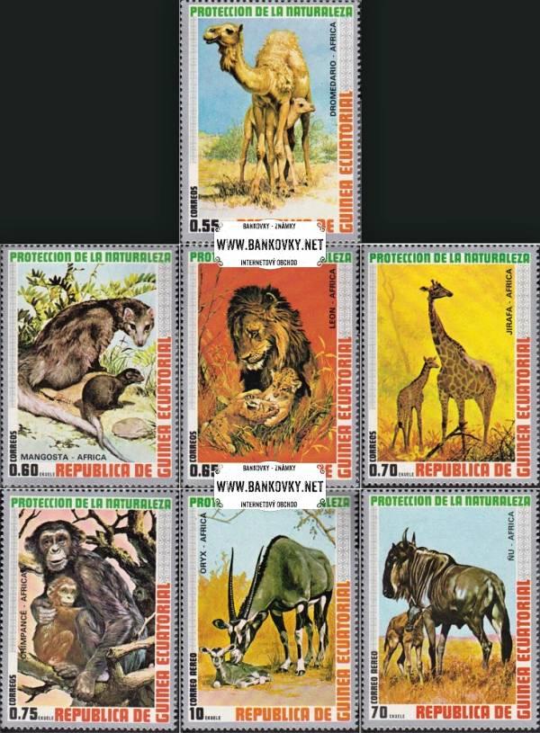 Známky Rovníková Guinea 1974 Afr. zvieratá, nerazítkovaná séria