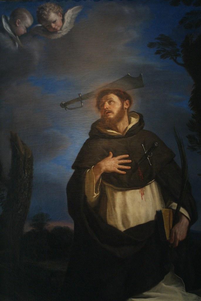 """Il Guercino """"San Pietro de Verona"""" (1646) à la Pinacoteque de Bologne."""