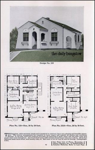 Bungalow house plans plan service co late twenties for Bungalow company plans