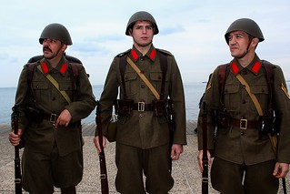 Greek soldiers in 1940's uniforms on parade - 28th October 2014 | by Teacher Dude's BBQ