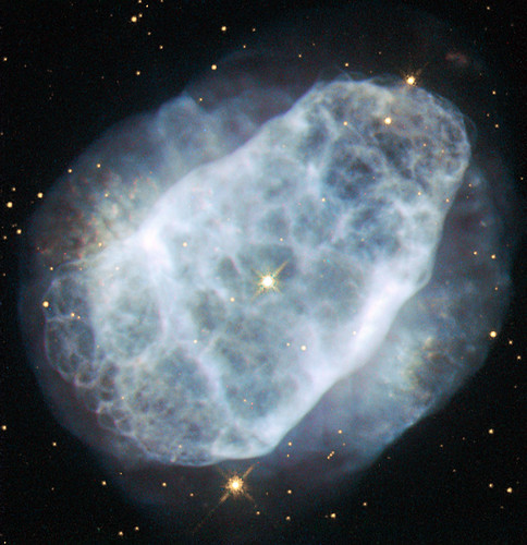 Hubble View Of A Nitrogen Rich Nebula This Nasa Esa