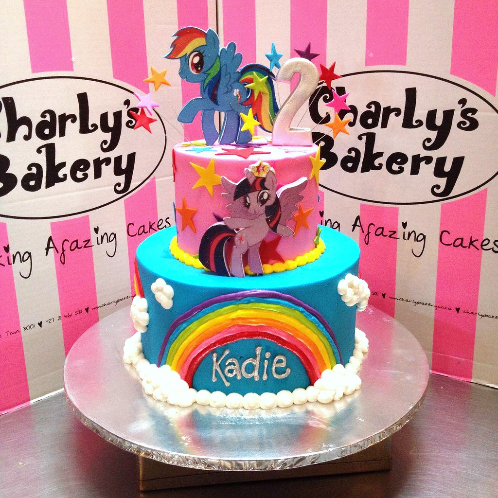 2tier My Little Pony themed 2nd birthday cake with 2D mou Flickr