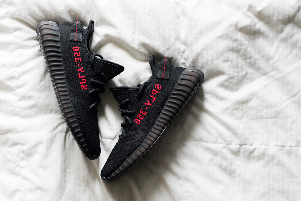 UA Yeezy Boost 350 V2 Bred Black Red SPLY 350