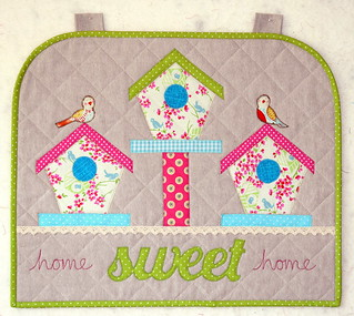 Home Sweet Home Spring Wallhanging (British Patchwork & Quilting magazine April17) | by Just Jude Designs