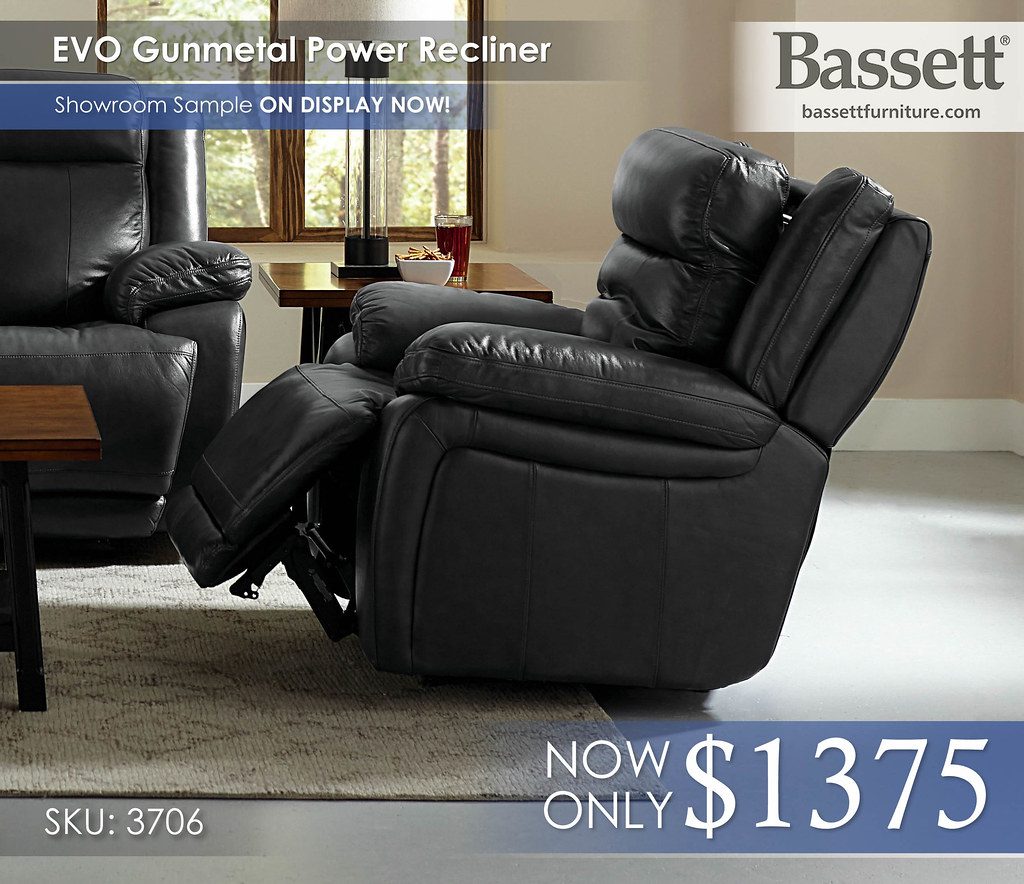 3706_EVO Bassett Gunmetal Power Recliner