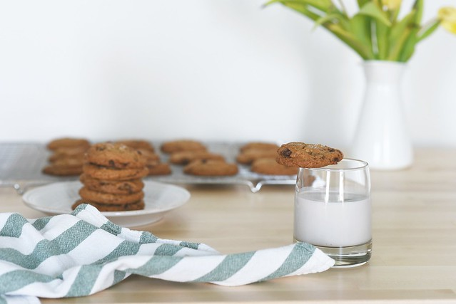 Mint-Chocolate Chip Cookies