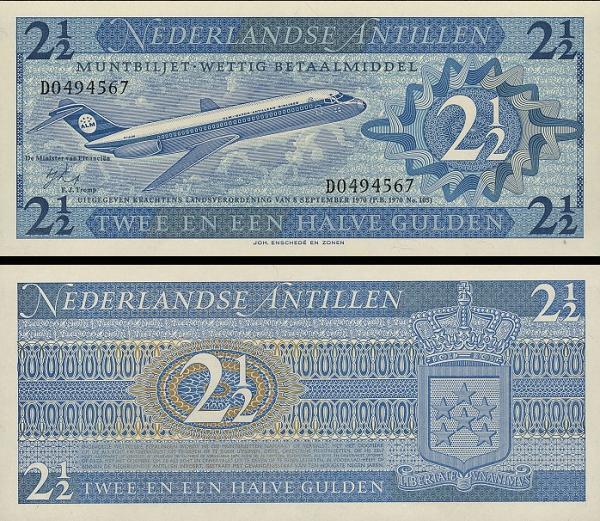 2 1/2 Gulden Holandské Antily 1970, P21
