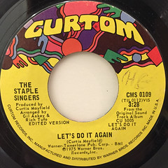THE STAPLE SINGERS:LET'S DO IT AGAIN(LABEL SIDE-A)