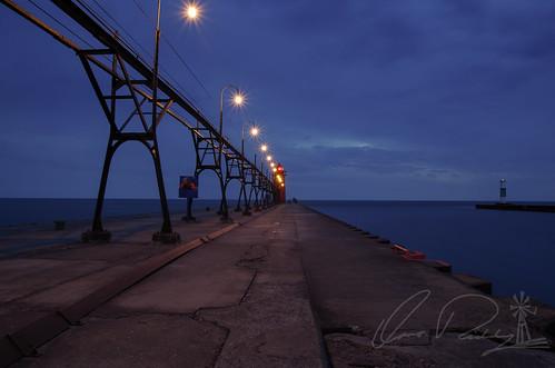South Pierhead Light at Dusk