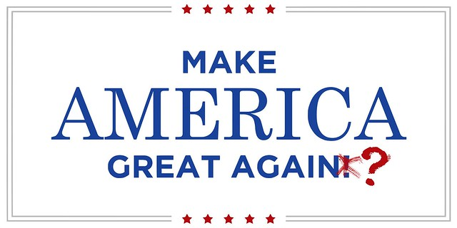 slogan Trump, make america great again ?
