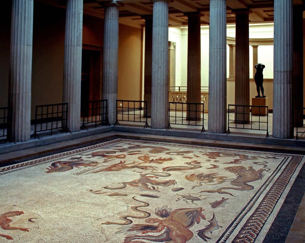... Römisches Oceanus Mosaik Aus Bad Vilbel (Roman Oceanus Mosaic From Bad  Vilbel) |