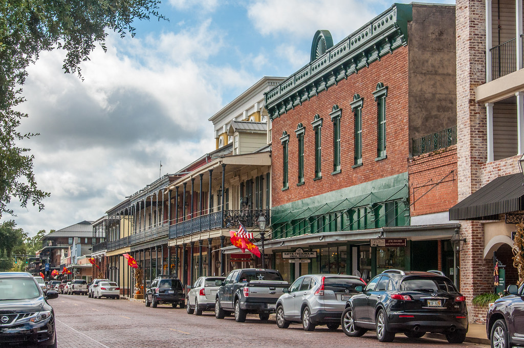 historic front street in natchitoches louisiana establish flickr