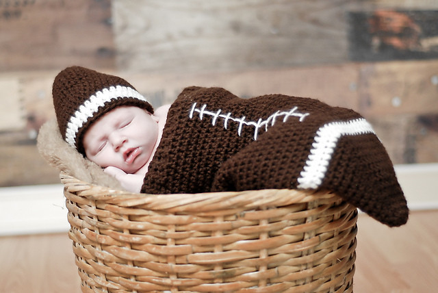 Football Cocoon Free Crochet Baby Buntings Cocoons Sle Flickr