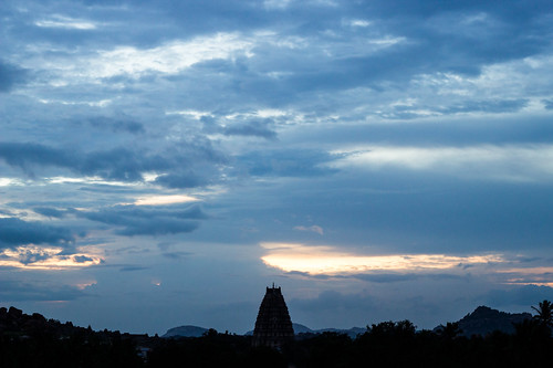 sunset over Hampi | by lizziemoch