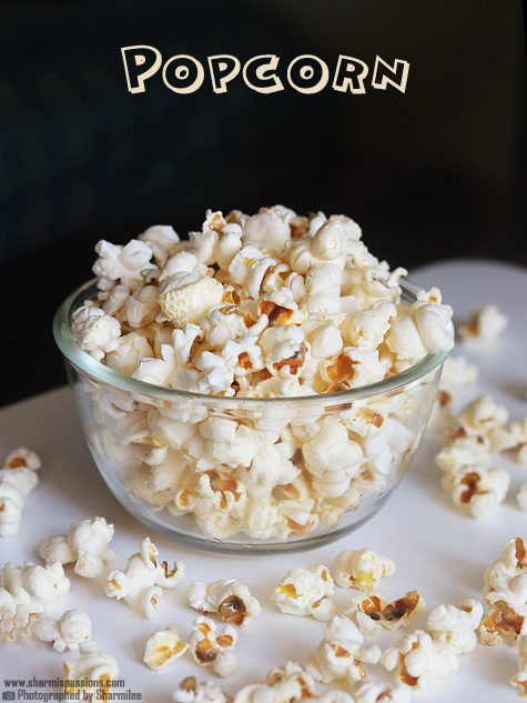 Perfect Popcorn Recipe - How to make popcorn on the stovetop - Sharmis ...