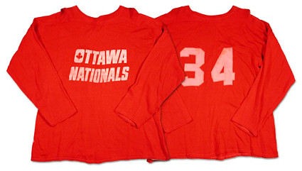Ottawa Nationals 1972-73 P jersey