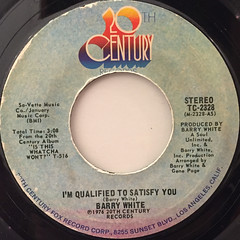 BARRY WHITE:I'M QUALIFIED TO SATISFY YOU(LABEL SIDE-A)