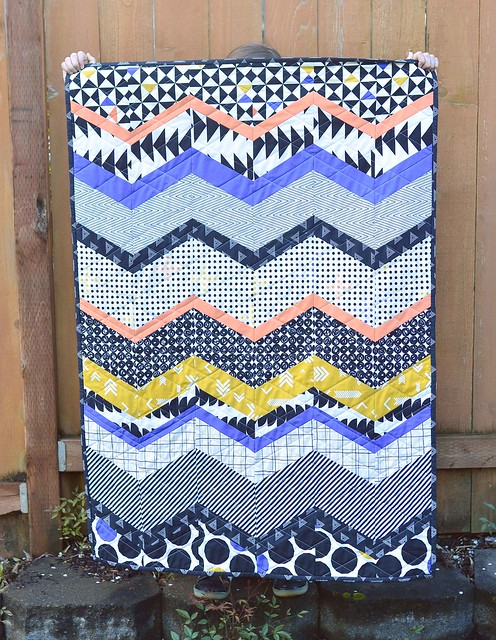 Take Shape Chevron Baby Quilt