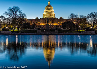 US Capitol Reflecting Pool at Dawn | by JustinCEO