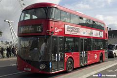 Wrightbus NRM NBFL - LTZ 1677 - LT677 - Parliament Square 12 - Go Ahead London - London 2017 - Steven Gray - IMG_8392