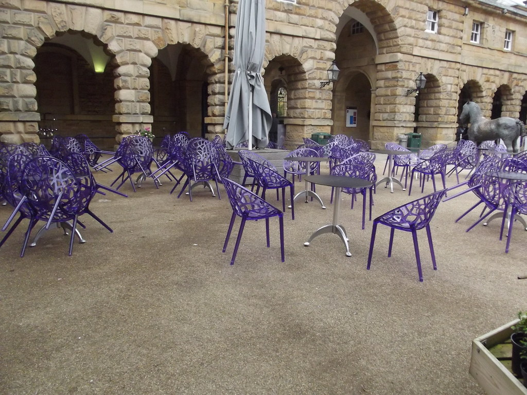 ... Former Stables   Chatsworth   Purple Chairs | By Ell Brown