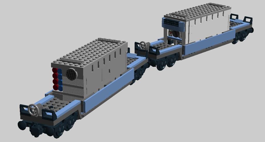 Lego Maersk Train Cars Genset Reefer And Generator Flickr