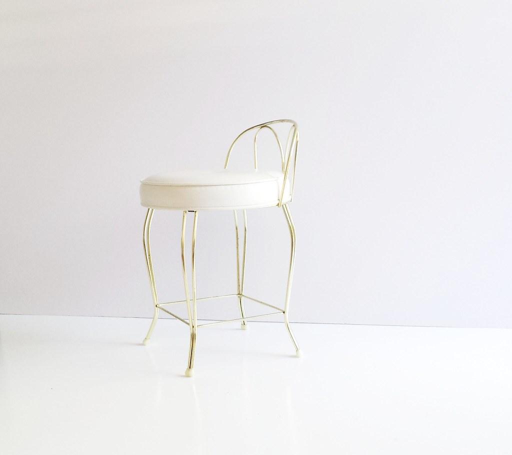 Merveilleux ... Vintage Vanity Stool GEORGE KOCH Vanity Chair   Mid Century Brass  Vanity Stool | By Tim