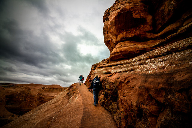 Delicate Arch Trail, back of the Twisted Doughnut Arch
