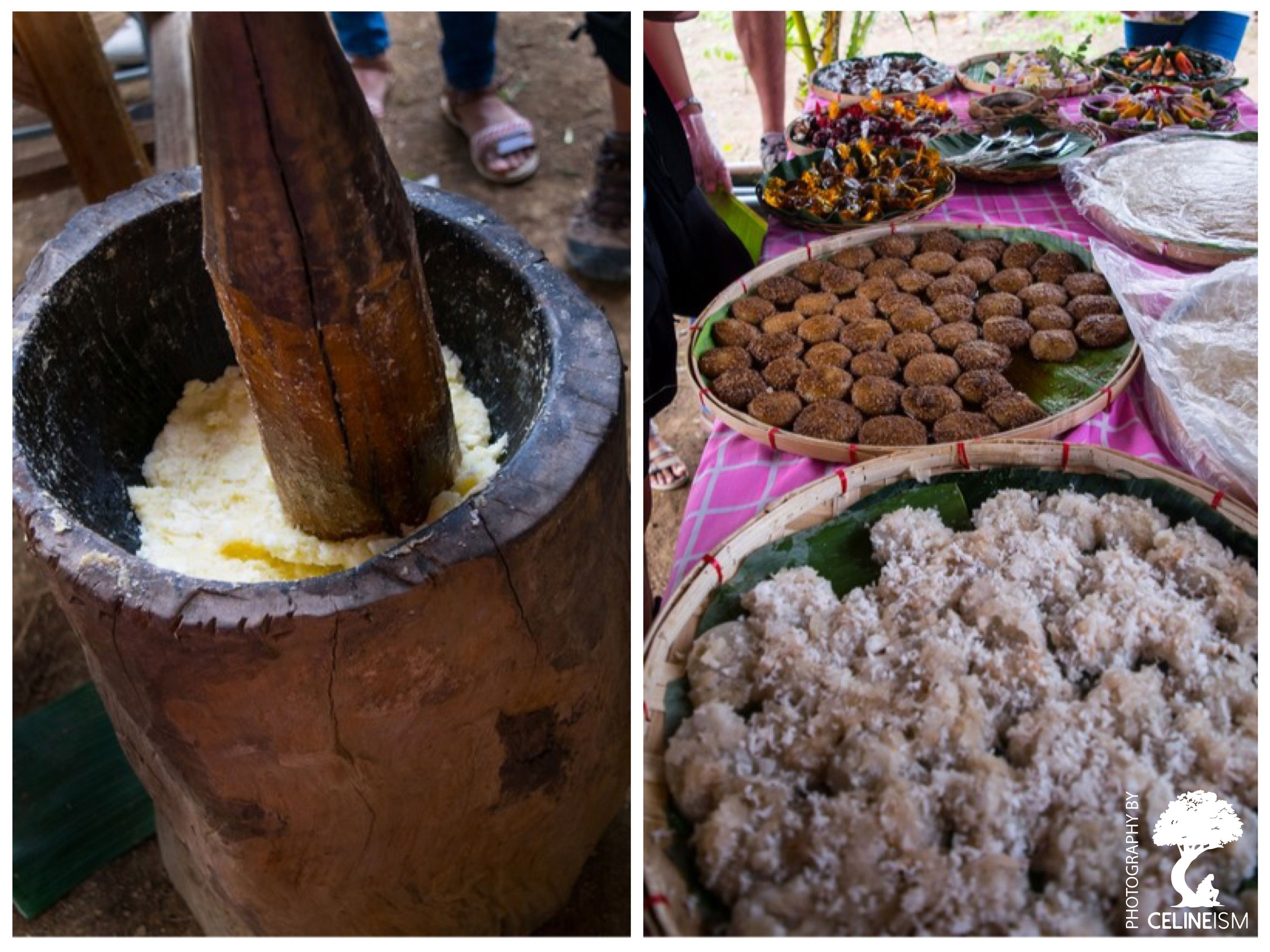 From farm to table. Rice delicacies at the farm