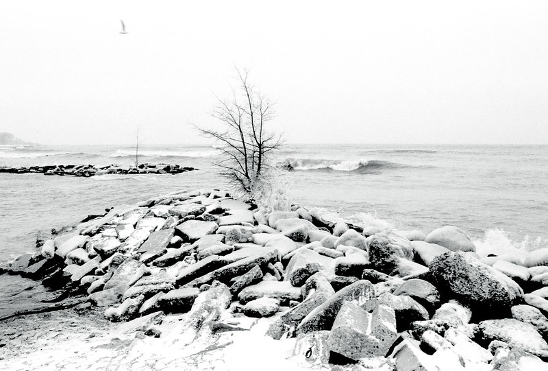 Rough Lake Ontario in a Storm
