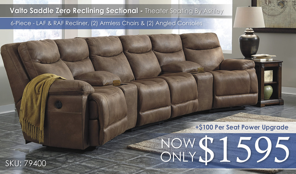 Valto Zero Wall Reclining Sectional 6 Piece - 79400-58-27-46(2)-27-62-CLSD
