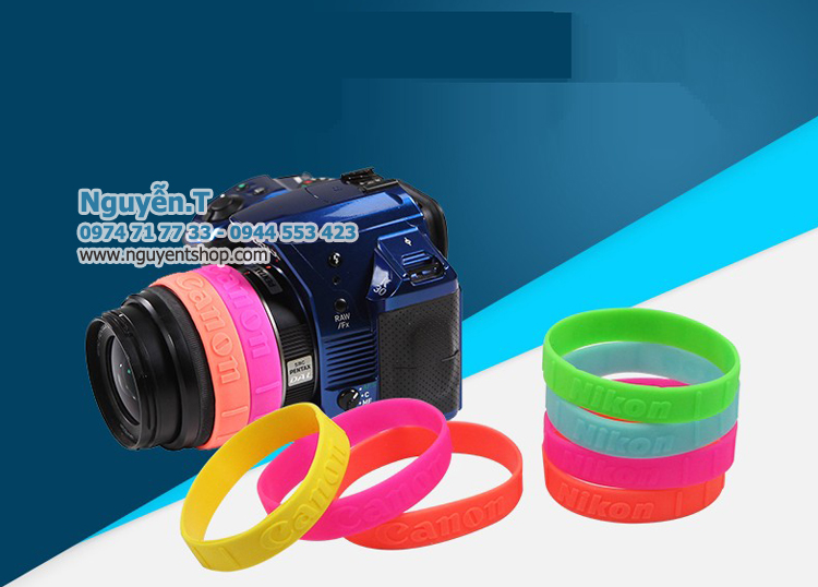 Vòng cao su Lens ống kính Canon chữ nổi