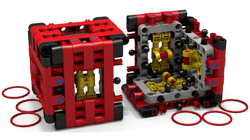 Lego Technic Puzzle Box By Aeh5040 2 Halves As Shown On Flickr
