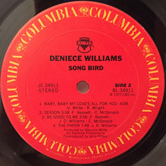 DENIECE WILLIAMS:SONG BIRD(LABEL SIDE-B)