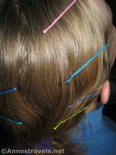 Slide the bobby pins in near the roots - 12 Hiking Hairstyles that are Pretty & Practical