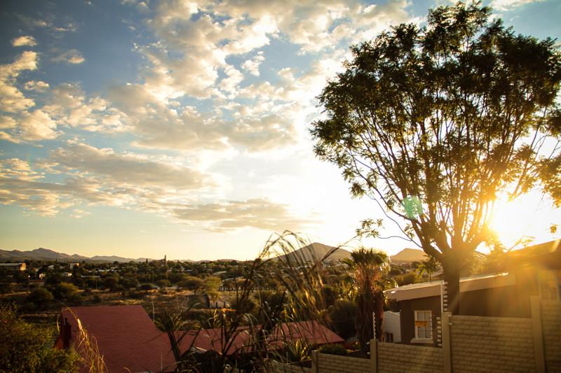 Namibia Sonnenuntergang Windhoek
