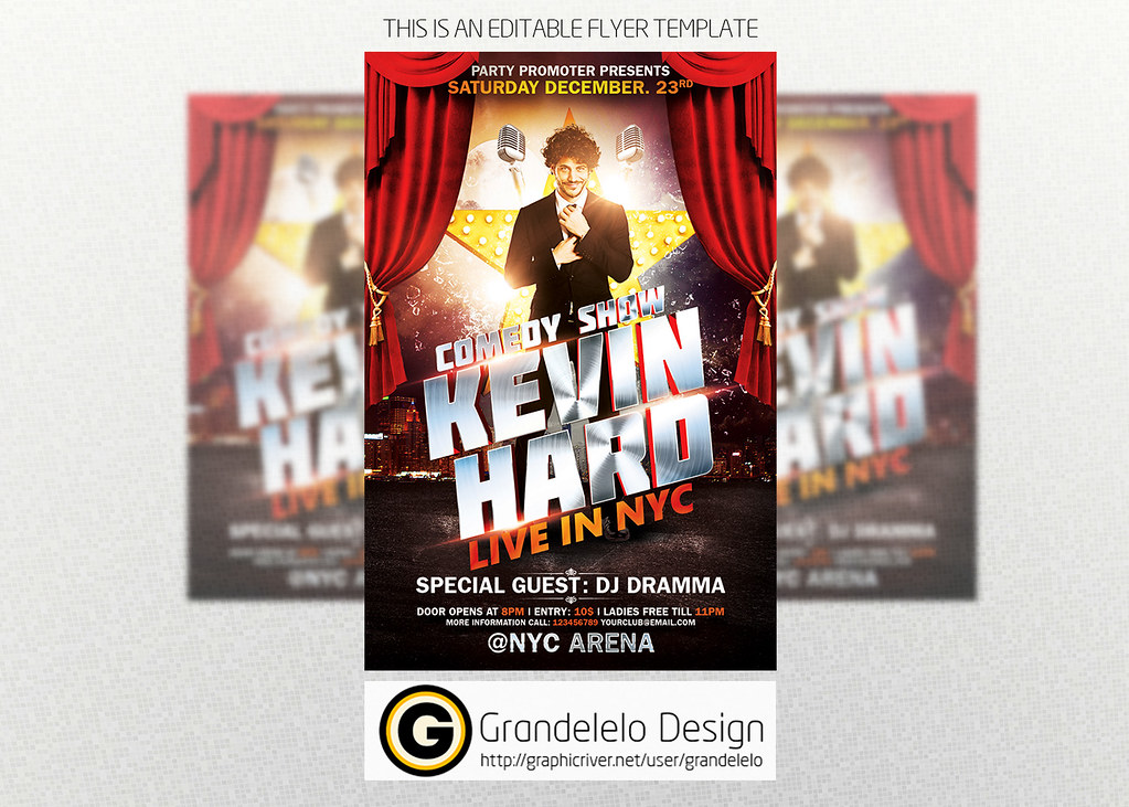 Comedy Show Flyer Template Psd  To Download Psd Template C  Flickr
