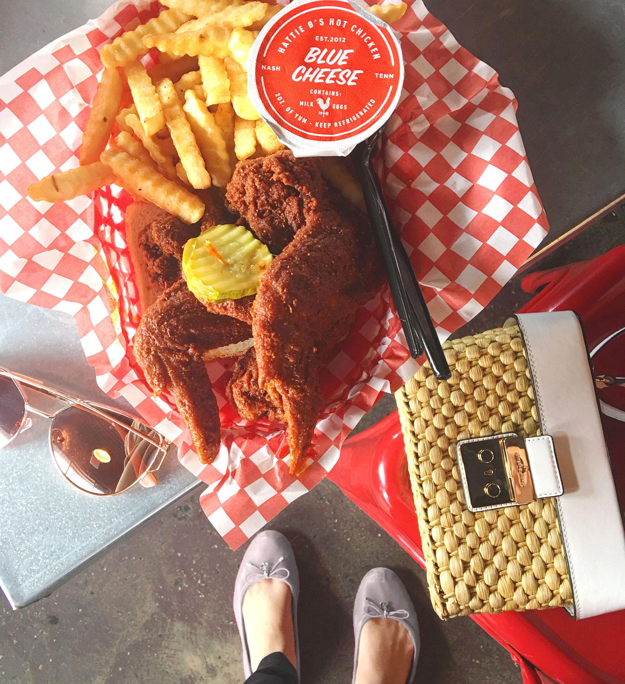 Hattie B's spicy fried chicken in Nashville