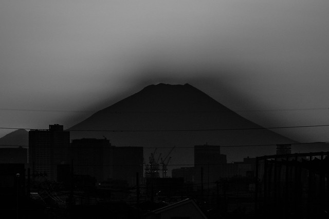 20170226_01_sun setting to Mt. Fuji_4/4