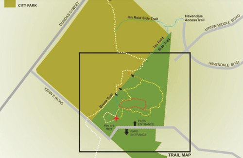 Kerncliff Park Trail Map